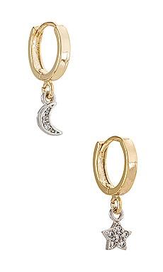 Starry Nights Mismatched Moon & Star Huggies Natalie B Jewelry $24 (FINAL SALE)