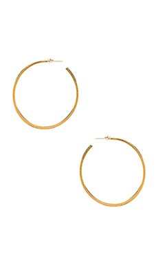 Natalie B Jewelry Hoop Earring in Gold