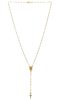 Natalie B Roma Rosary Necklace en Or