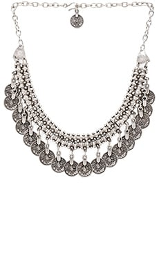 Natalie B Jewelry Priceless Chest Necklace in Silver