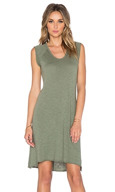 Nation LTD Heather Tee Dress in Olive