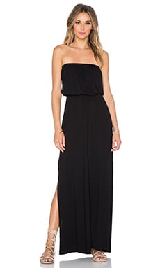 Nation LTD Alicia Strapless Maxi Dress in Black