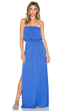 Nation LTD Alicia Strapless Maxi Dress in Oasis Blue