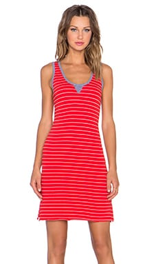 Nation LTD Heidi Tank Dress in Flag Red
