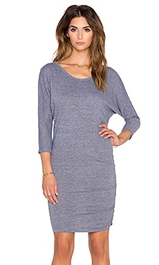Nation LTD Ginny Dolman Sleeve Dress in Heather Grey