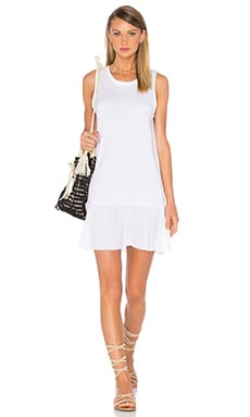 Ariel Ruffle Tank Dress en Blanc