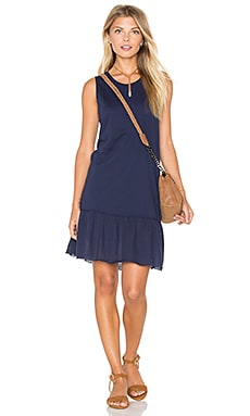 Ariel Ruffle Tank Dress in Navy