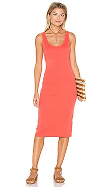 Gayle Tank Dress en Lobster Red