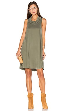 Flo Turtleneck Dress in Olive