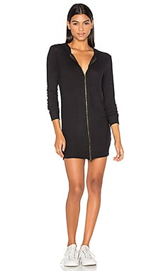 Laraine Hoodie Dress in Black