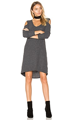 Gwen Cold Shoulder Dress in Charcoal