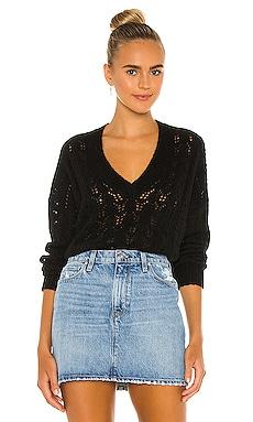 Mika Pointelle Slouchy V Sweater Nation LTD $90