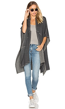 Flora Poncho in Charcoal