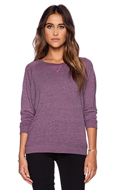 Nation LTD Raglan Sweatshirt in Heather Pink Topaz