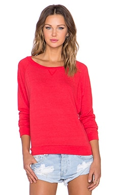 Nation LTD Raglan Sweatshirt in Flag Red