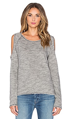 Nation LTD Clara Cold Shoulder Sweatshirt in Grey