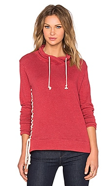 Nation LTD Alexis Lace Up Sweatshirt in Red