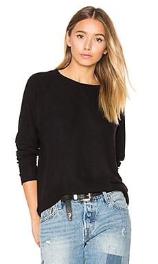 Hacci Raglan Sweatshirt in Black