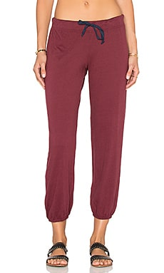 Nation LTD Medora Capri Sweatpant in Pinot Noir