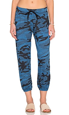 Nation LTD Medora Camo Capri Sweatpant in Blue Camo