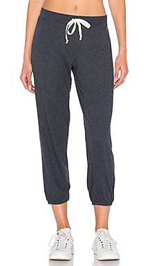 Medora Capri Sweatpant in Charcoal