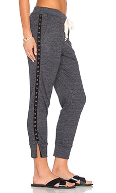 Desa Split Capri Pant in Charcoal