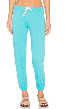 Medora Capri Sweatpant in Teal