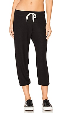 Hacci Capri Sweatpant in Black