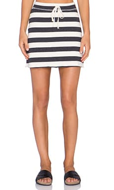 Nation LTD Kristi Mini Skirt in Bonfire Cotton Stripe