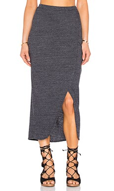 Marnie Wrap Skirt in Charcoal