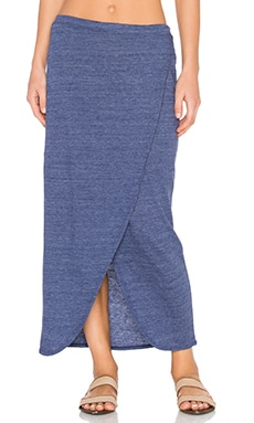 Nation LTD Marnie Wrap Skirt in Navy