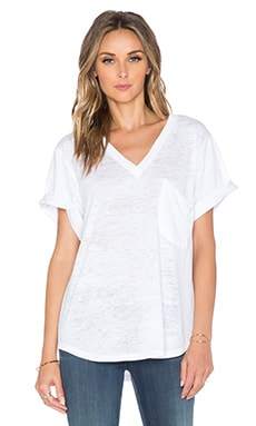 Nation LTD Lake Tahoe Deep V Tee in White