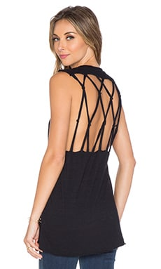 Nation LTD Lilith Macrame Tank in Black