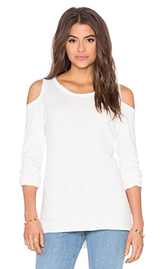 Olivia Cold Shoulder Tee in Ecru
