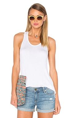 Georgie Racer Tank in White