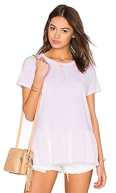 Nation LTD Fiona Ruffle Tee in Shell Pink