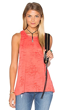 Dana Twist Back Tank in Lobster Red