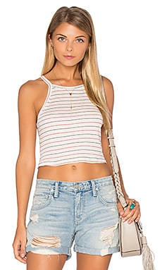 Winnie Stripe Crop Tank in Cream Stripe