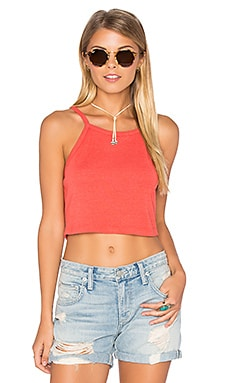Tina Crop Tank in Lobster Red