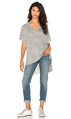 Nation LTD Leona Henley Top in Heather Grey