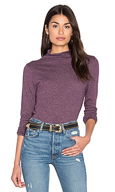 Allyn Mock Turtleneck Top in Elderberry