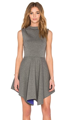 NATIVE STRANGER Neoprene Handkerchief Dress in Heather Grey