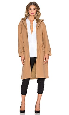NATIVE STRANGER Oversized Hooded Parka Jacket in Camel
