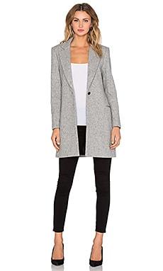 NATIVE STRANGER Mid Length Wool Jacket in Grey