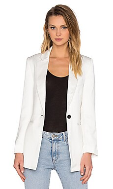 NATIVE STRANGER Straight Cut Blazer in Off White