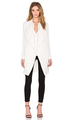 NATIVE STRANGER Draped Front Vest in White