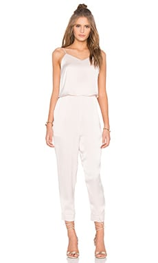 Double Layer Jumpsuit in Light Beige