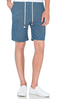 Native Youth Seersucker Short in Indigo