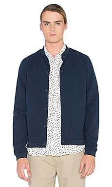 Native Youth Seersucker Bomber in Navy