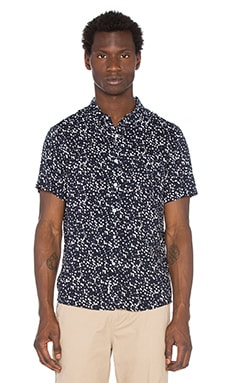 Native Youth Ink Blot Shirt in Navy